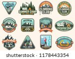 set of rock climbing club and... | Shutterstock .eps vector #1178443354