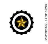 star winner logo stamp vector... | Shutterstock .eps vector #1178443981