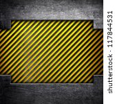 metal plate with warning stripes | Shutterstock . vector #117844531