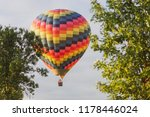 colorful hot air balloon flying ... | Shutterstock . vector #1178446024
