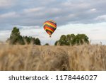 colorful hot air balloon flying ... | Shutterstock . vector #1178446027