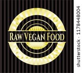 raw vegan food golden emblem or ...   Shutterstock .eps vector #1178448004