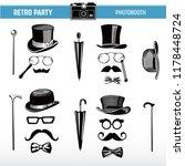 movember retro party printable... | Shutterstock .eps vector #1178448724