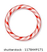 christmas candy frame round... | Shutterstock .eps vector #1178449171