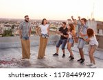 group of young people having... | Shutterstock . vector #1178449927