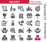 delivery icons. professional ... | Shutterstock .eps vector #1178451931