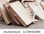 heap of packings from paper.... | Shutterstock . vector #1178452084