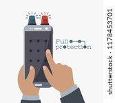 enter pass code screen isolated.... | Shutterstock .eps vector #1178453701