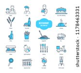 restaurant thin line icons set. ... | Shutterstock . vector #1178463331