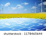 sustainable energy from wind... | Shutterstock . vector #1178465644