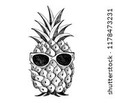 summer pineapple in glasses. ... | Shutterstock .eps vector #1178473231