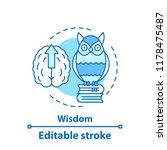 wisdom concept icon. gaining...   Shutterstock .eps vector #1178475487