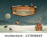 winter holidays landscape with... | Shutterstock .eps vector #117848665