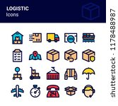 filled outline logistic icon   Shutterstock .eps vector #1178488987