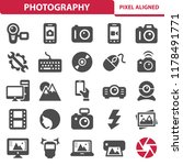photography icons. professional ... | Shutterstock .eps vector #1178491771