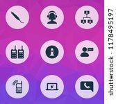 telecommunication icons set...   Shutterstock .eps vector #1178495197