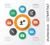 telecommunication icons set...   Shutterstock .eps vector #1178497567