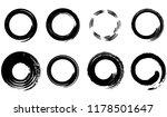 grunge vector circles set. dry... | Shutterstock .eps vector #1178501647
