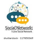 social network bulb concept | Shutterstock .eps vector #117850369