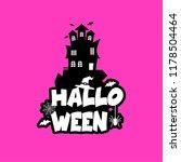 halloween design with... | Shutterstock .eps vector #1178504464