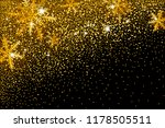 gold glitter and snowflake...   Shutterstock .eps vector #1178505511