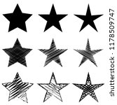 star set   vector icon... | Shutterstock .eps vector #1178509747