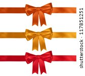 set of ribbon bows   red ... | Shutterstock . vector #117851251