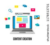 content creation concept.... | Shutterstock .eps vector #1178513731