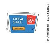 mega sale 50 percent banner | Shutterstock .eps vector #1178513827
