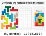 puzzle game with colorful... | Shutterstock .eps vector #1178518984