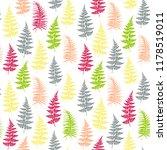 fern frond herbs  tropical... | Shutterstock .eps vector #1178519011