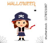 cute child dressed in a pirate... | Shutterstock .eps vector #1178521087
