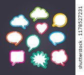 text balloons with different... | Shutterstock .eps vector #1178527231