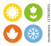 four season icons summer spring ... | Shutterstock .eps vector #1178528551