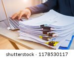 businessman hands working data... | Shutterstock . vector #1178530117