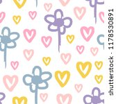 repeated flowers and hearts...   Shutterstock .eps vector #1178530891