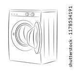 washing machine. vector... | Shutterstock .eps vector #1178534191