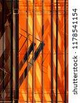 metal grid structure over... | Shutterstock . vector #1178541154