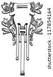 decorative element of the... | Shutterstock . vector #117854164