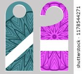 door hanger flyer with floral... | Shutterstock .eps vector #1178544271