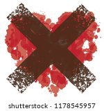 vector red graphic abstract... | Shutterstock .eps vector #1178545957