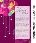 flyer template design | Shutterstock .eps vector #117854701