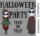 happy halloween party poster....   Shutterstock .eps vector #1178548591