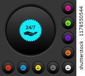 24 hours seven service sticker... | Shutterstock .eps vector #1178550544