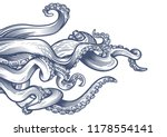 tentacles of an octopus. hand... | Shutterstock .eps vector #1178554141