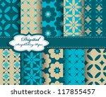 set of flower vector paper for... | Shutterstock .eps vector #117855457