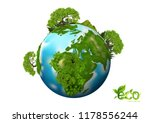 earth day. eco friendly concept.... | Shutterstock .eps vector #1178556244