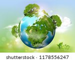 earth day. eco friendly concept.... | Shutterstock .eps vector #1178556247