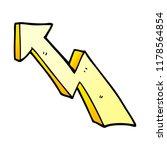 cartoon doodle rising arrow | Shutterstock . vector #1178564854