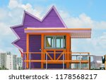 miami beach ocean rescue station | Shutterstock . vector #1178568217